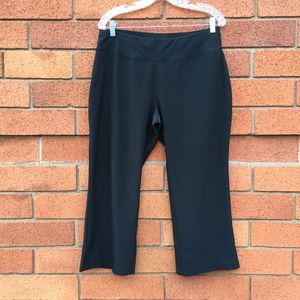 Lucy Black Wide Leg Leggings Stretchy Pants Large